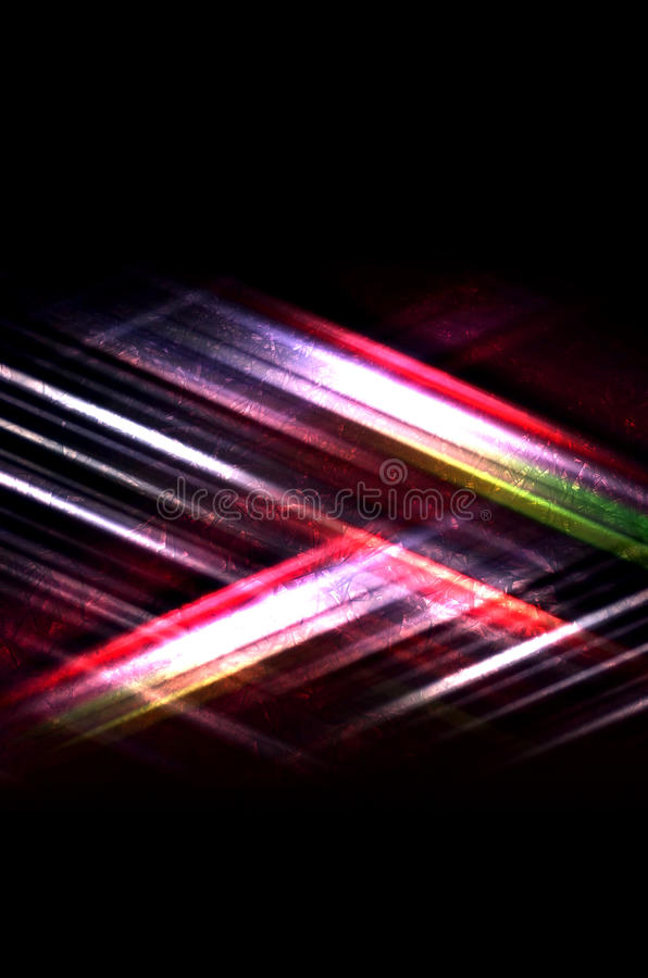 Colorful lines pattern and concrete texture. Abstract digital background with shining colorful lines pattern and concrete texture on black royalty free illustration