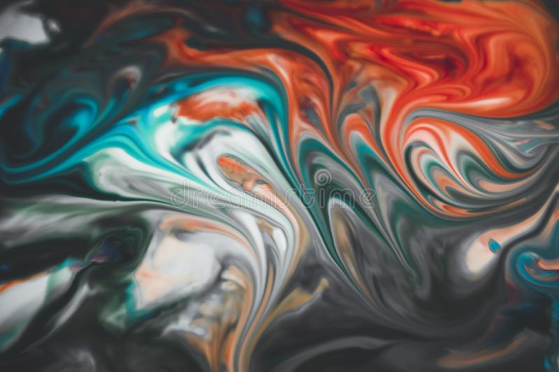 Abstract colors mixed together stock photography