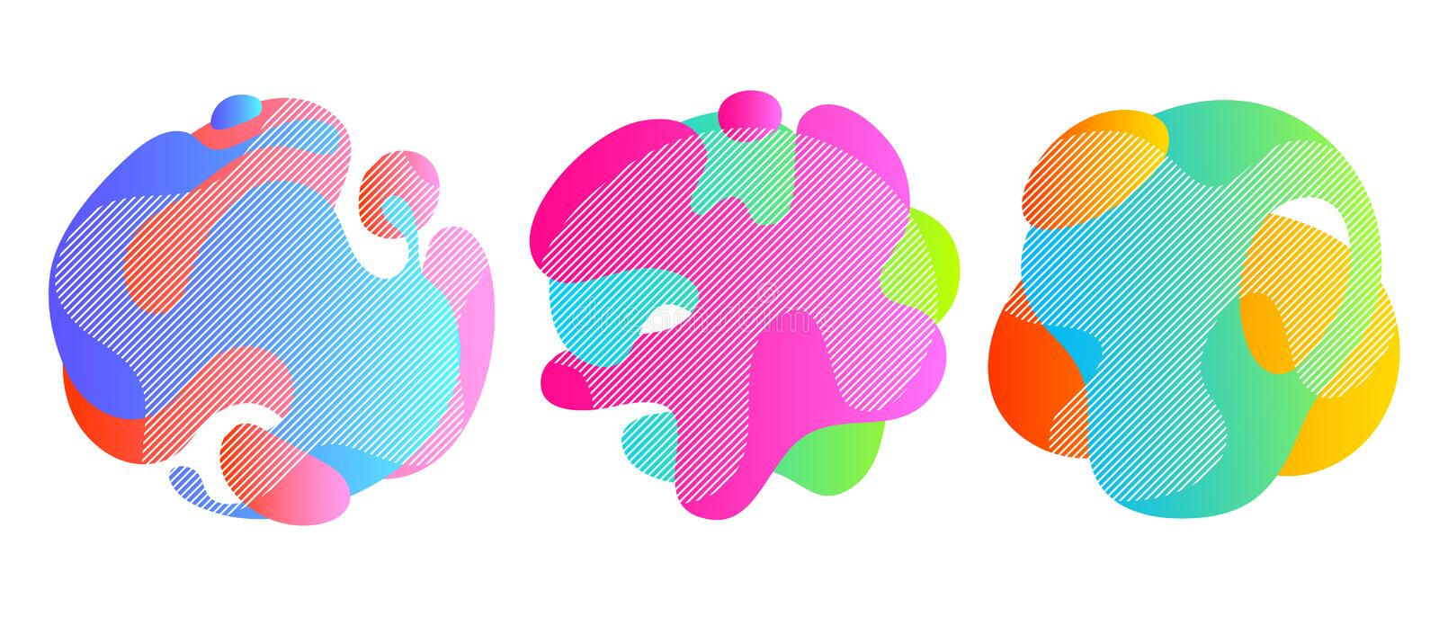 Colorful liquid shapes set. Abstract fluid blobs. Colorful liquid shapes set. Abstract fluid blobs background vector illustration