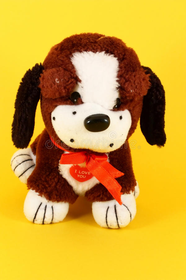 Colorful little dog of plush royalty free stock image