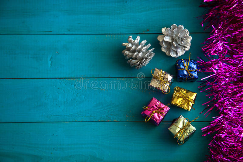 Colorful little gift boxes royalty free stock image