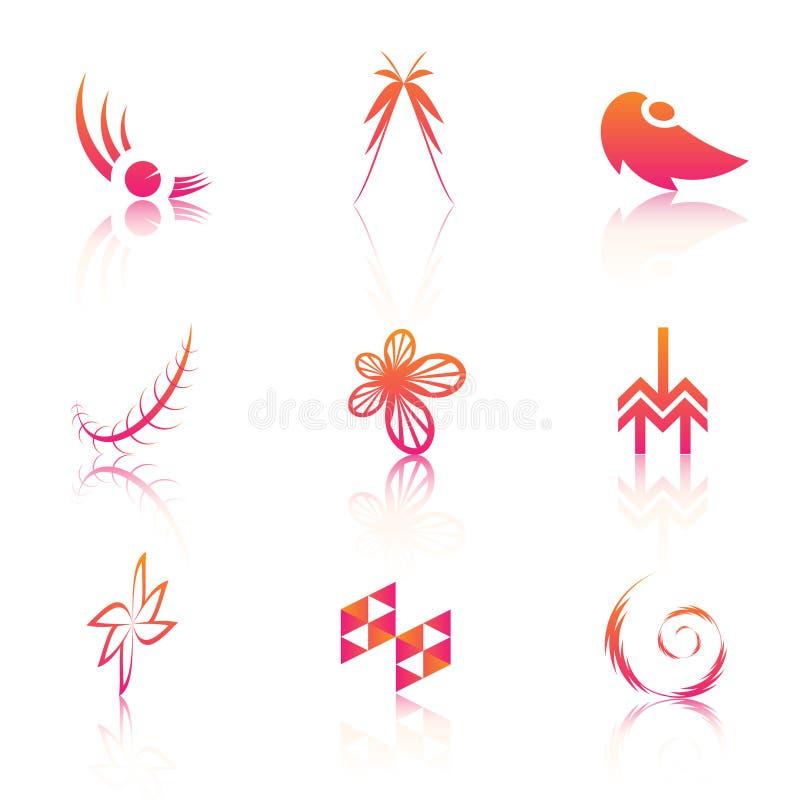 Colorful logos royalty free illustration