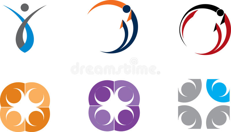 Colorful logos collection royalty free illustration