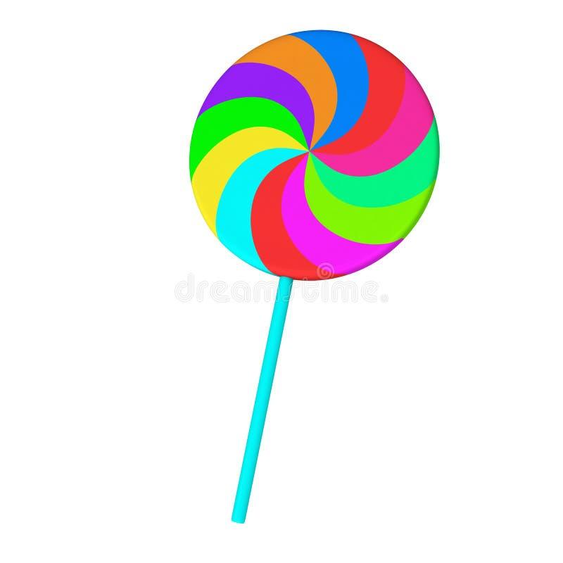 Colorful lollipop, 3d stock illustration