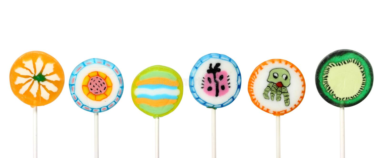 Download Colorful lollipops stock photo. Image of white, background - 4859220