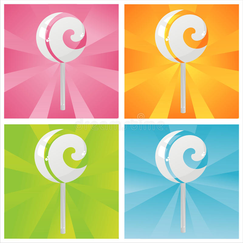 Download Colorful Lollipops Backgrounds Stock Vector - Illustration of graphic, stylish: 21604528