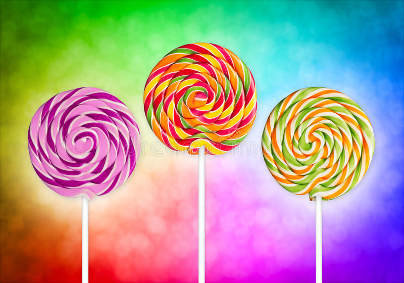 Colorful lolly pops royalty free stock images