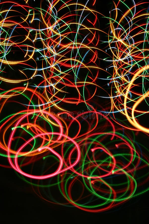 Colorful long exposure lights painting royalty free stock photo