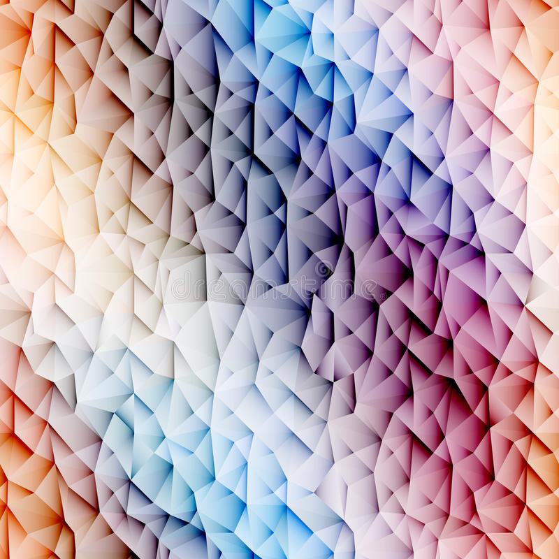 Colorful low poly graphic background stock illustration