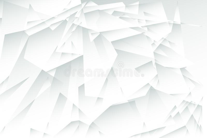 Gray low polygon abstract background, grey triangular wallpaper,white geometric technology banner stock illustration