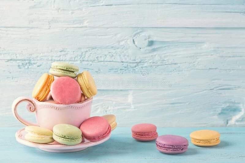 Colorful macarons royalty free stock photos
