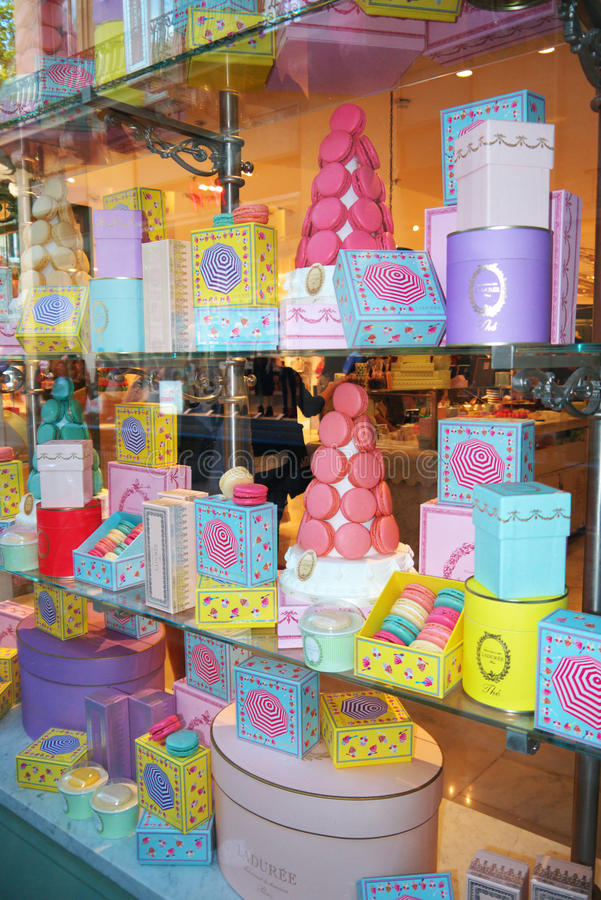 Colorful Macarons le Printemps Haussmann royalty-vrije stock afbeelding