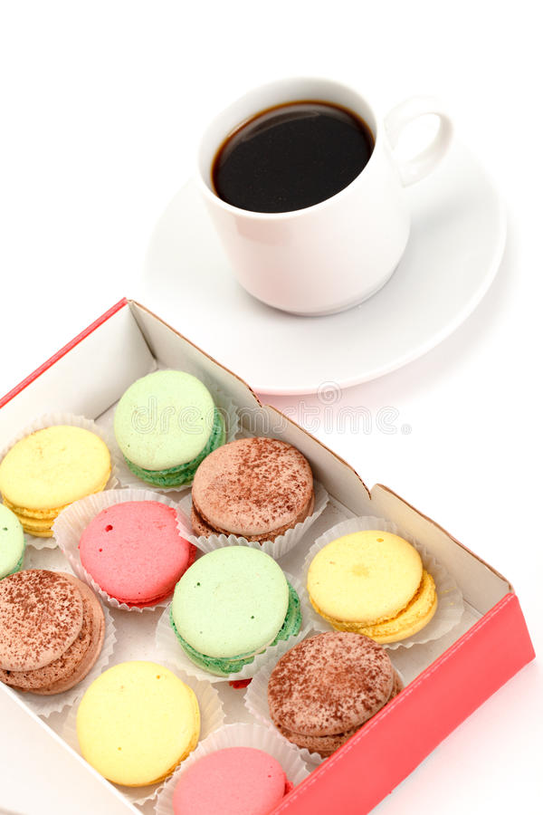 Download Colorful Macaroon And Cup Of Coffee Stock Photo - Image: 23891744