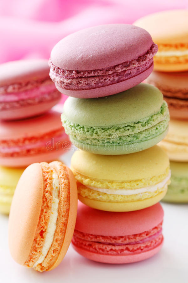 Free Colorful Macaroons Royalty Free Stock Images - 15940619