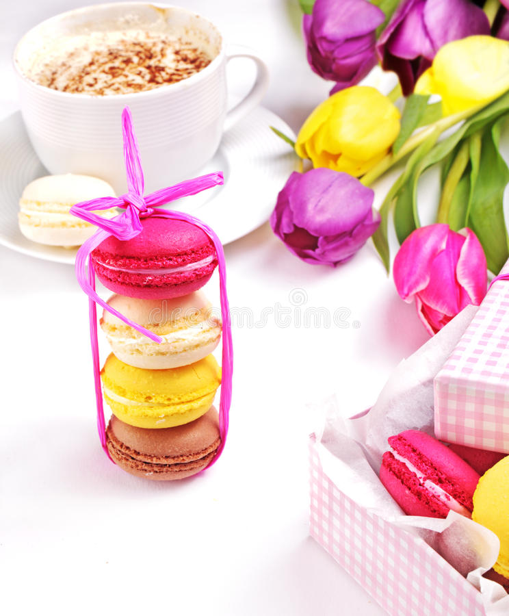 Download Colorful macaroons stock photo. Image of assorted, gift - 22693020