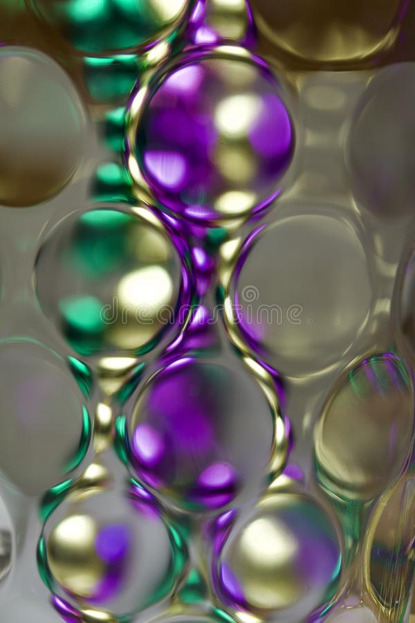 Colorful macro abstract art design texture of defocused glass with bokeh royalty free stock photo