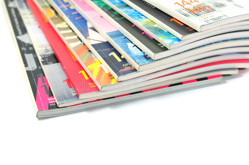 Colorful Magazines royalty free stock images