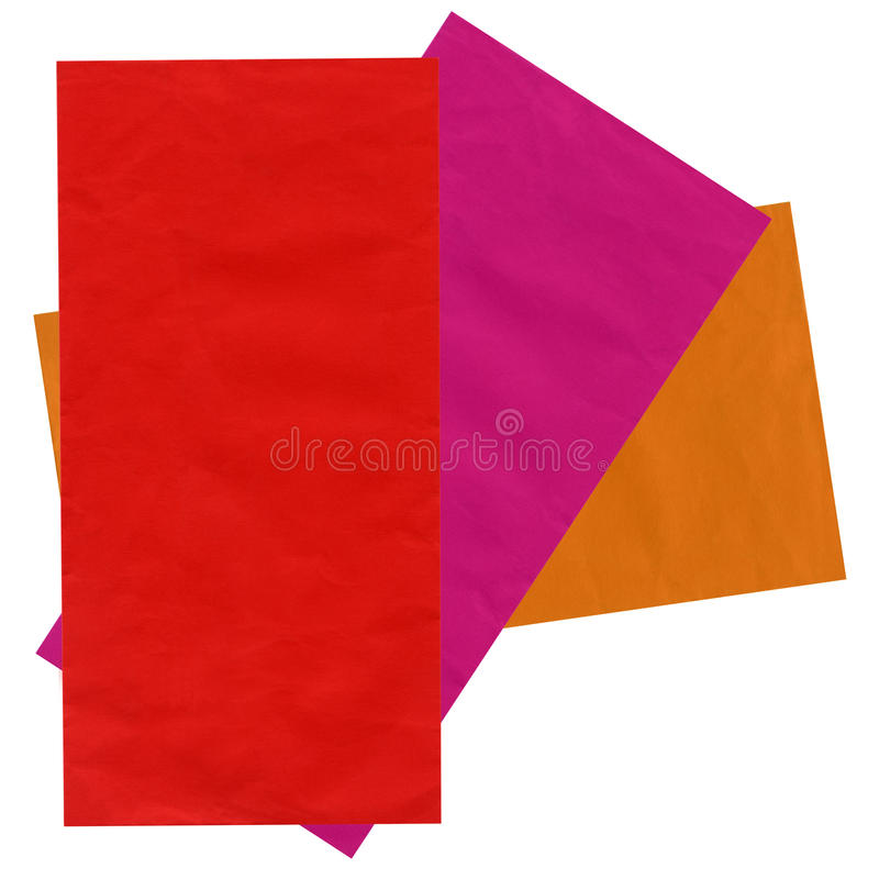 Colorful mail envelopes, recycled paper, isolated royalty free stock photography