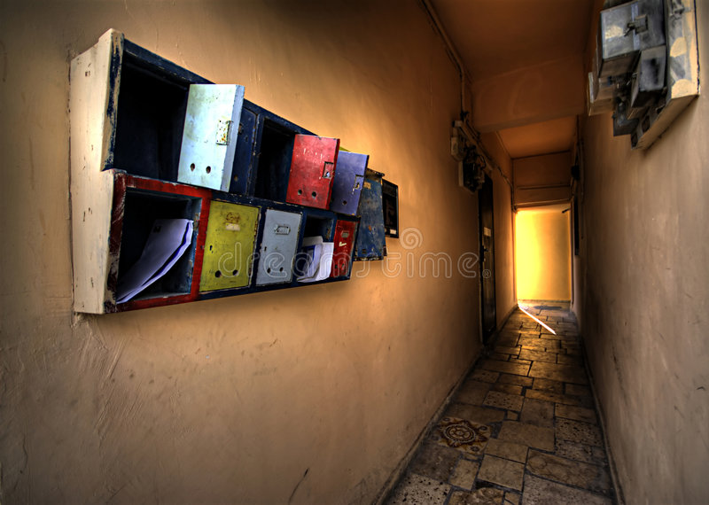 Download Colorful mailboxes stock photo. Image of mailboxes, lobby - 8154508