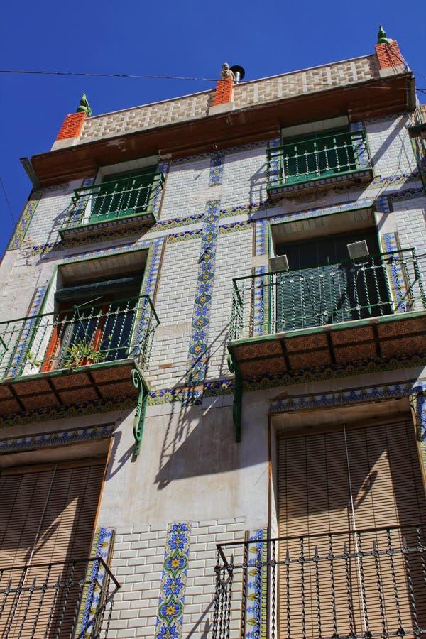 Colorful and majestic old house facade in Caravaca de la Cruz, Murcia, Spain royalty free stock photo