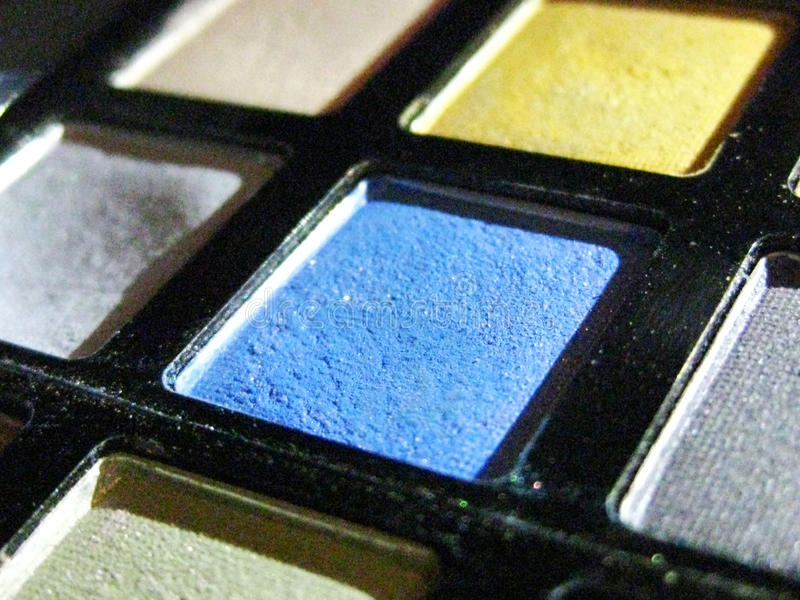 Colorful Make up Palette stock photos
