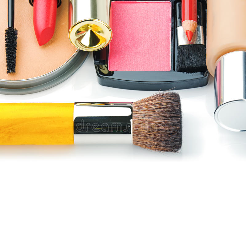 Colorful Make-up Products Royalty Free Stock Photos