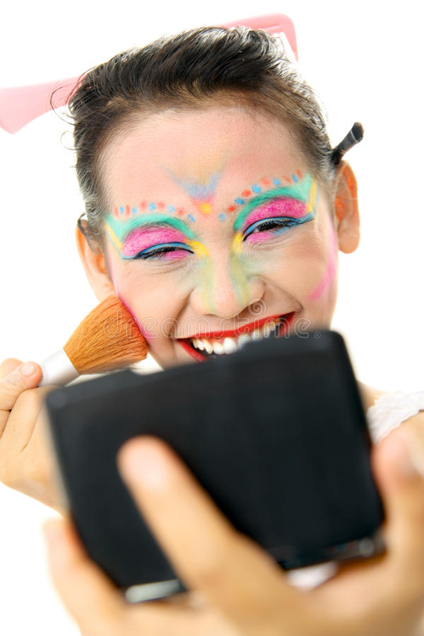 Download Colorful makeup stock photo. Image of good, smiling, person - 12205684