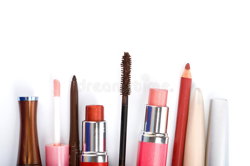 Colorful Makeup Collection Isolated Royalty Free Stock Photo