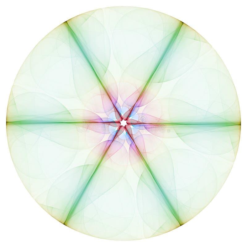 Colorful Mandala. Isolated on the white background vector illustration