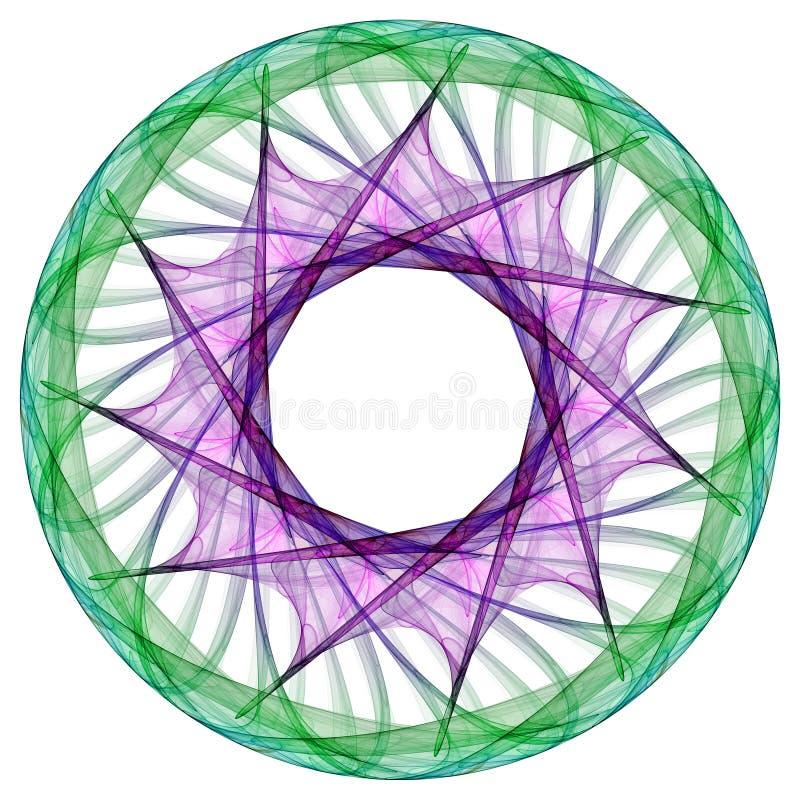 Colorful Mandala. Isolated on the white background royalty free illustration