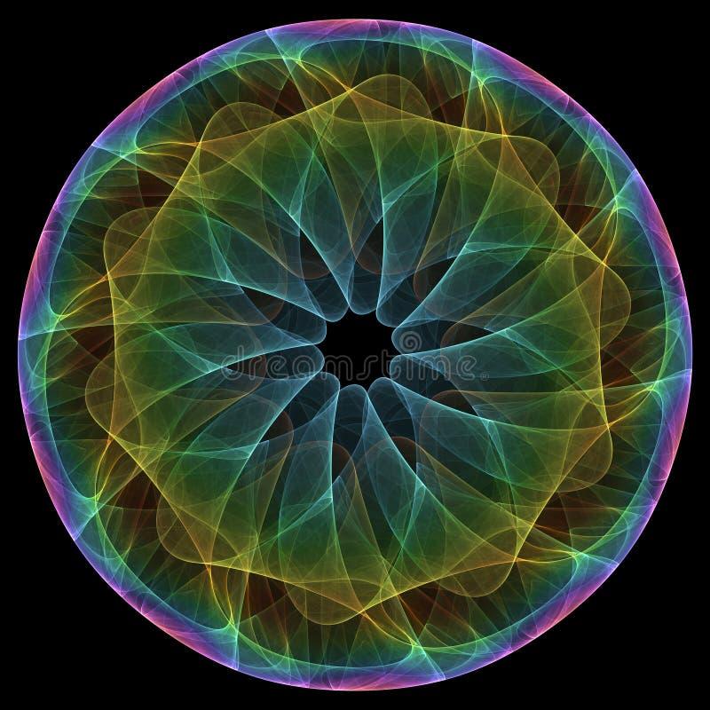 Colorful mandala. On the black background vector illustration