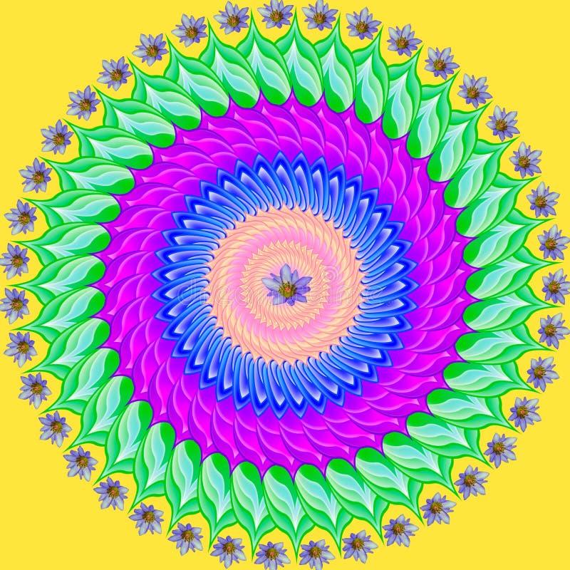 Colorful mandala geometric drawing - sacred circle royalty free stock images