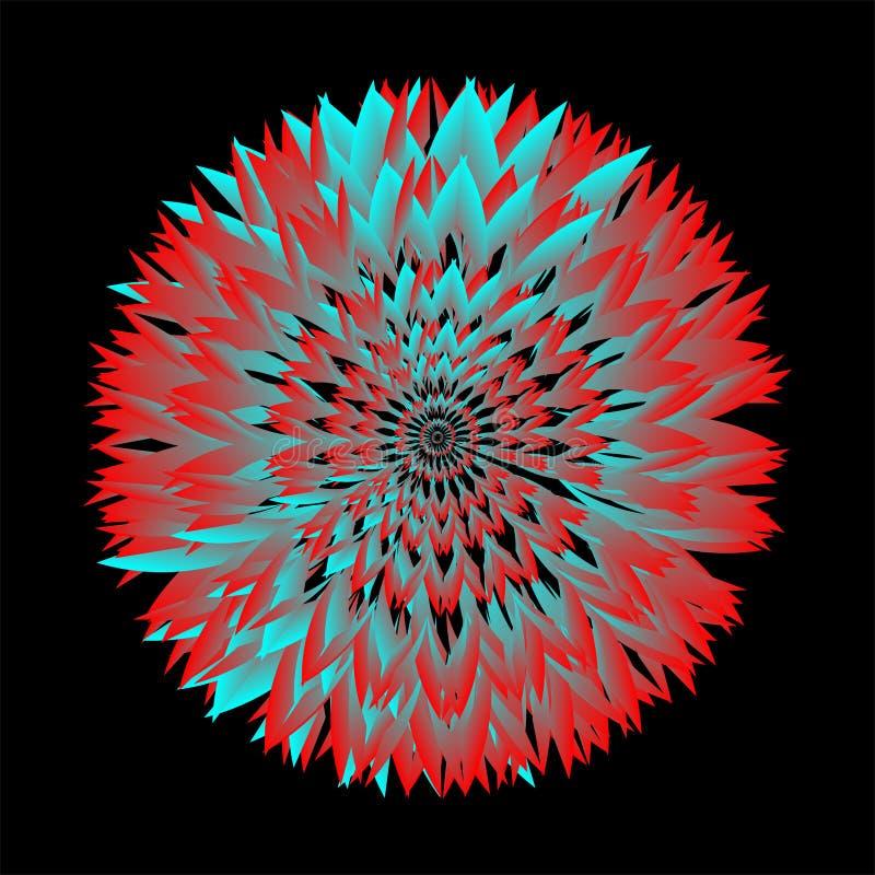 Colorful mandala royalty-vrije illustratie