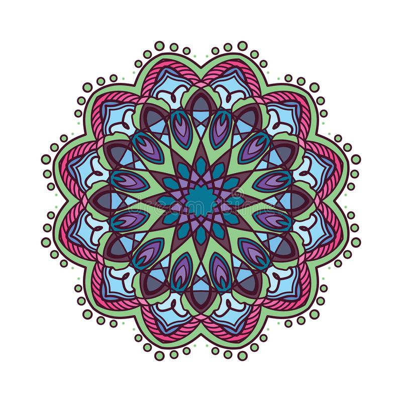 Colorful mandala pattern design with darker colors. Colorful mandala pattern design with darker color vector illustration