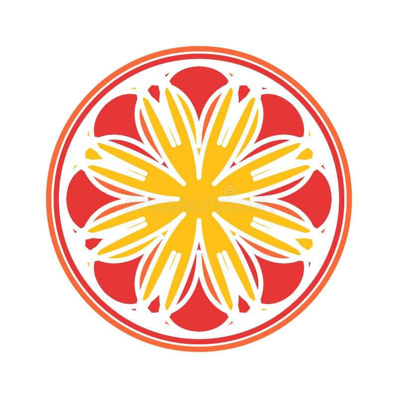 Colorful Mandala Vector Circular Ornament stock image