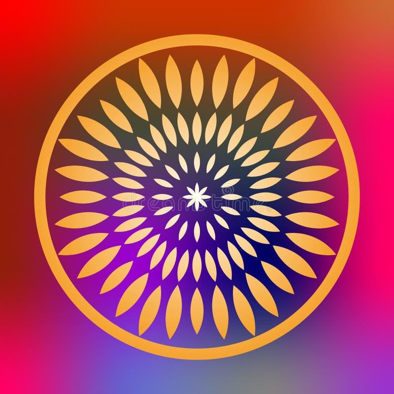 Colorful mandala Illustration. Colorful mandala vector isolated. Vector hand drawn circular decorative element vector illustration