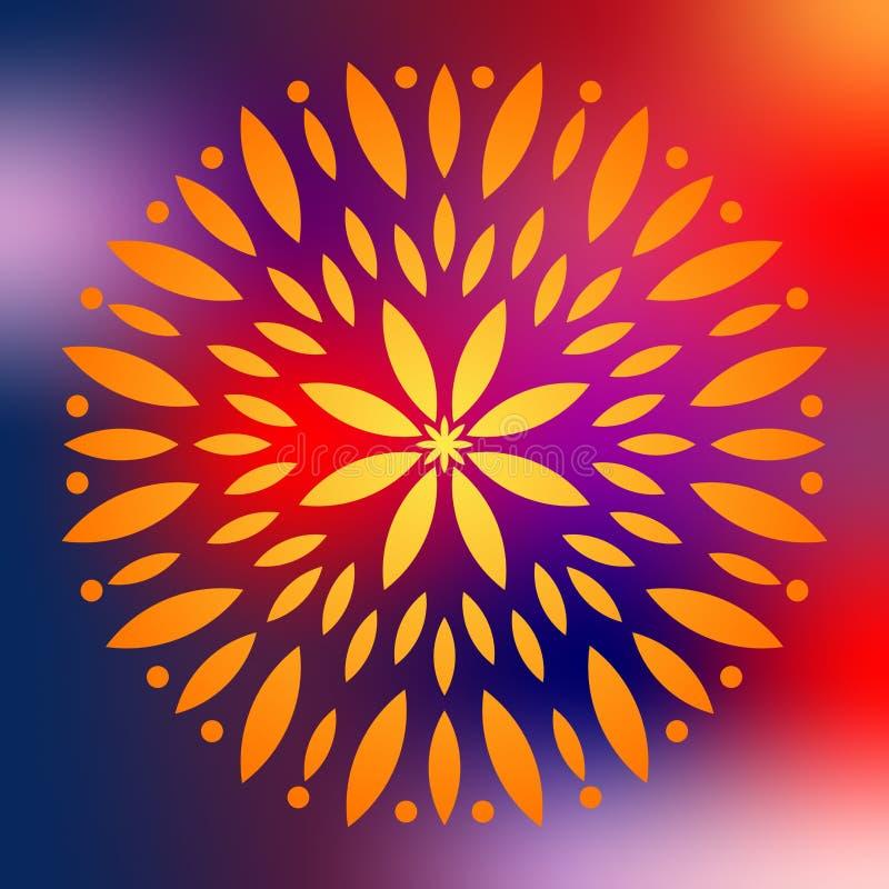 Colorful mandala Illustration. Colorful mandala vector isolated. Vector hand drawn circular decorative element royalty free illustration