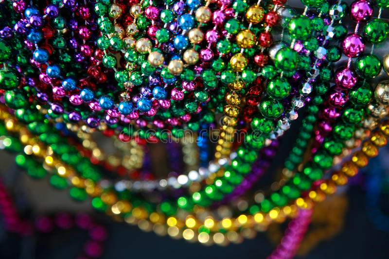 Colorful Mardi Gras Beads royalty free stock photo