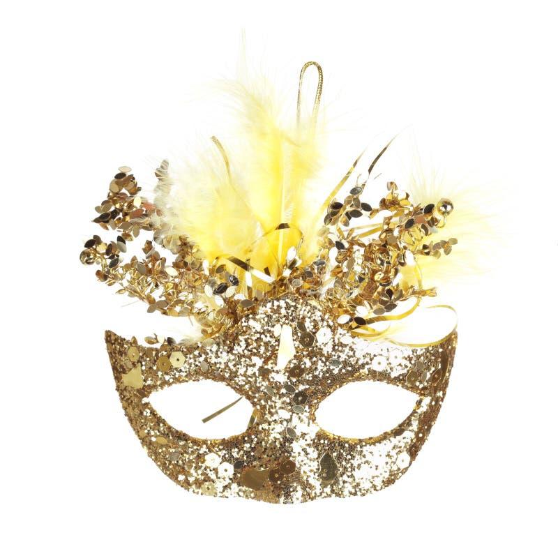 Colorful Mardi Gras mask isolated on white royalty free stock image