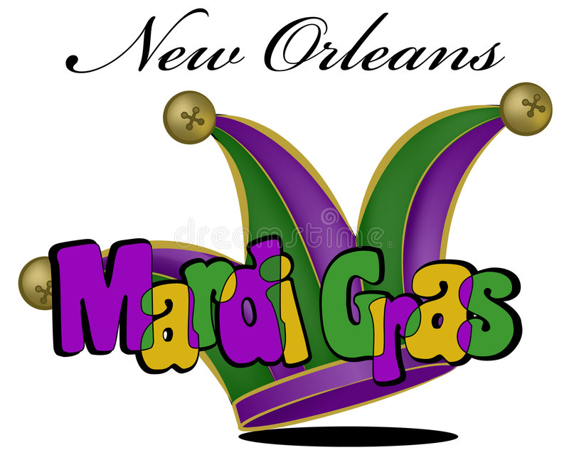 Colorful Mardi Gras poster in vector. A colorful, artistic poster for New Orleans and Mardi Gras vector illustration