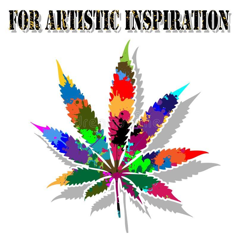 Colorful marijuana vector illustration