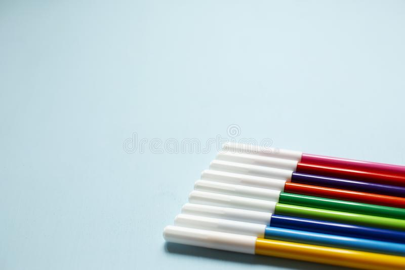 Colorful marker pen royalty free stock image