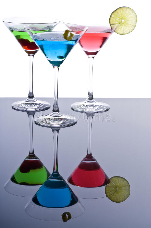 Free Colorful Martini Cocktails Stock Photo - 17749710