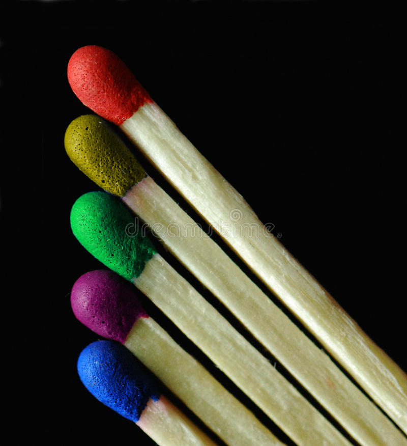 Colorful matches royalty free stock images