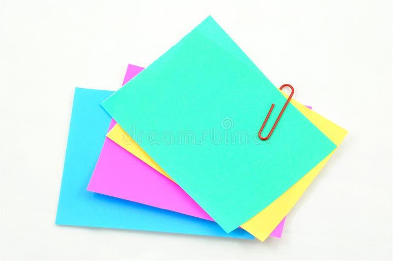Colorful memo notes royalty free stock photos