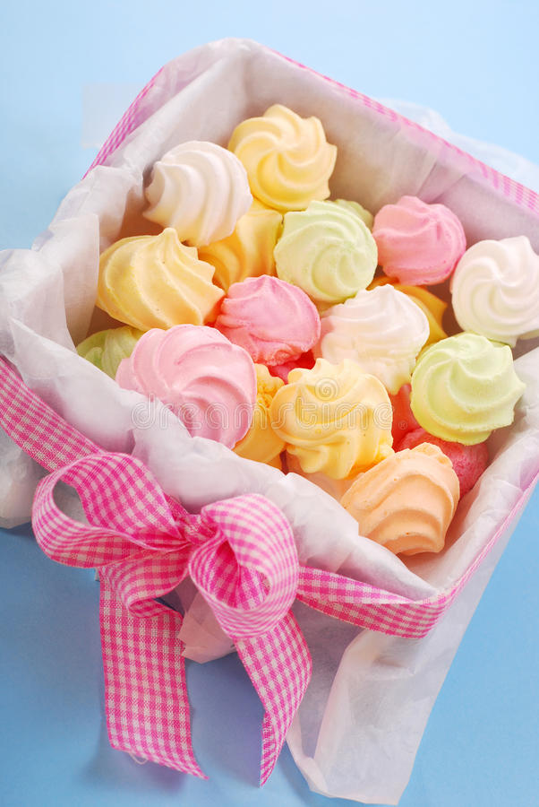 Download Colorful meringues stock photo. Image of cookies, child - 12160258