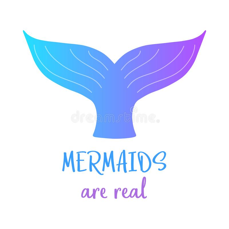 Colorful mermaid tail, Mermaids are real vector illustration