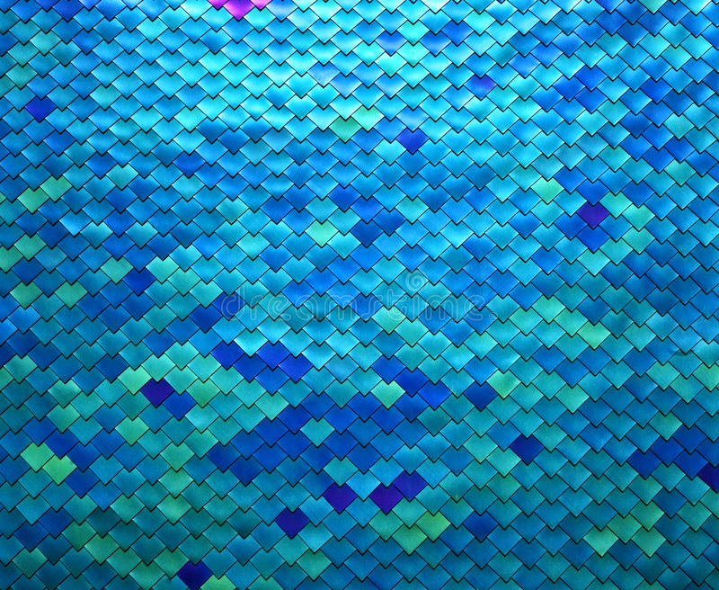 Colorful Metal Fish Scale Design Stock Photography