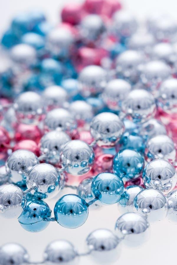 Colorful metallic beads stock photos
