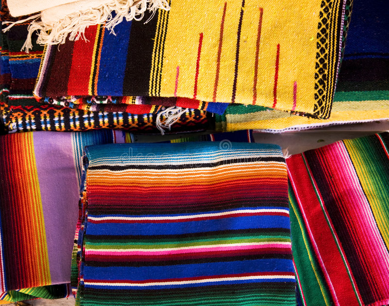 Download Colorful Mexican Blankets stock image. Image of blue, america - 4938689